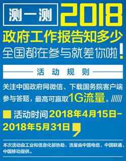 2018年国务院政府工作报告学习宣传海报